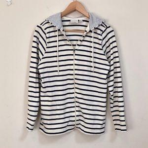 LL Bean Striped Zip-up Jacket